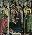 Vierge en thrônant avec Marguerite et Barbe (Belvedere).jpg