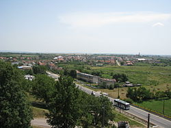 View of Ardud from the Ardud Fortress 2012.JPG