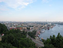 View of Podil from Kiev.jpg