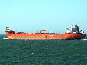 Vigdis Knutsen p6 leaving Port of Rotterdam, Holland 15-Jul-2006.jpg