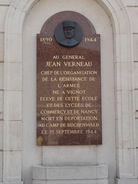 Vignot (Meuse) memorial Jean Verneau déporté Buchenwald 1944