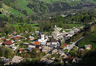Le Biot - Le Biot seen from above