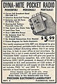 Vintage Advertising For Dyna-Mite Pocket Radio Kit, From Popular Science Magazine, November 1952 (14484308666).jpg