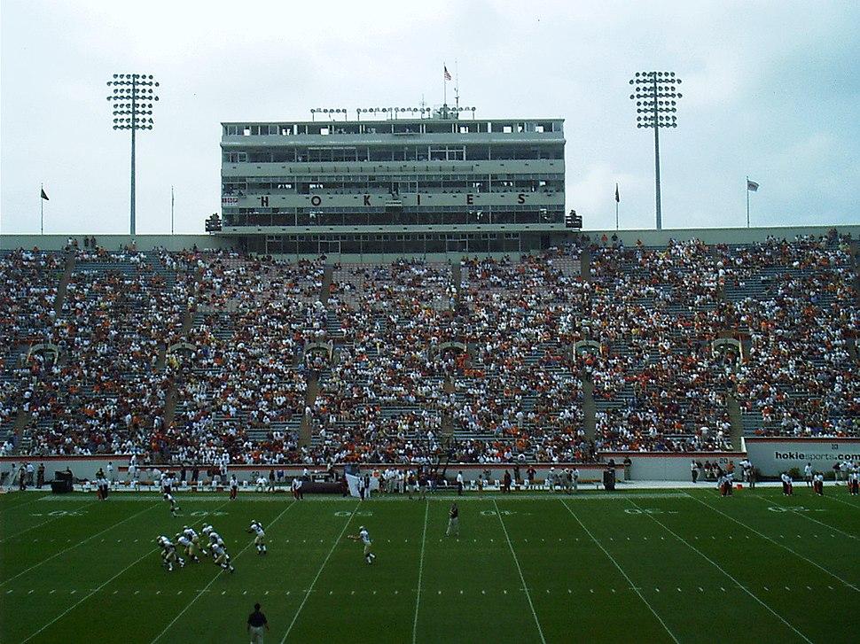 Virginia Tech Lane Stadium press box 2003