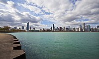 Vista del Skyline de Chicago desde el Planetario, Illinois, Estados Unidos, 2012-10-20, DD 06.jpg