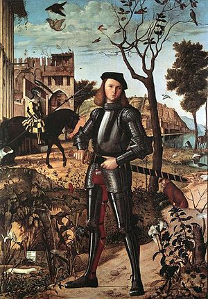 Young Knight in a Landscape (also known as Por...