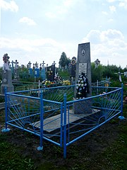 Viynytsia Lokachynskyi Volynska-grave of captain of Red Army Gomeniuk-general view.jpg