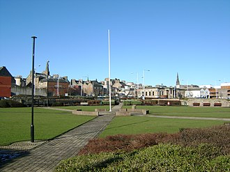 Kirkcaldy - Remains of the common muir now known as Volunteers' Green