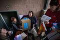 Volunteers receive hygiene kits in Stakhanov (20298627414).jpg