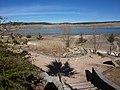 Vue de filtre planté avec lac de Dayet Ifrah derriere (9916128163).jpg