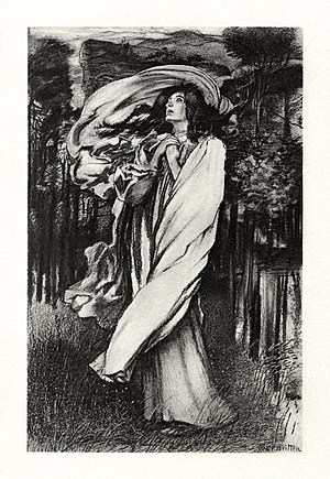 Oenone (poem) - c. 1901 illustration to the poem by W. E. F. Britten
