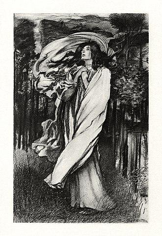 "Oenone - Circa-1901 illustration to Tennyson's 1829 poem, ""Oenone""."