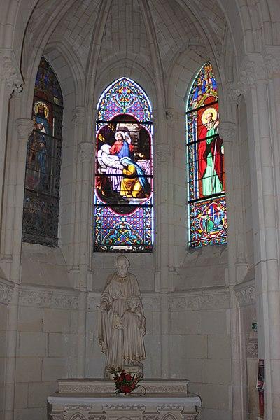 Absidiole sud, église Saint-Symphorien, Fr-49-Montjean-sur-Loire.