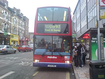 W7 Bus at Crouch End Broadway.JPG