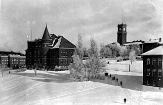 Washington State University - Thompson and Bryan Halls in 1925