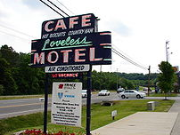 The iconic Loveless Cafe sign