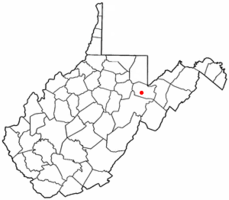 Location of Hendricks, West Virginia