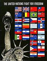 Amerikaanse poster tot oprichting van de Verenigde Naties