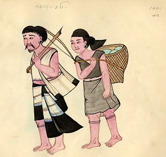Wa people - An early Burmese depiction of Wa