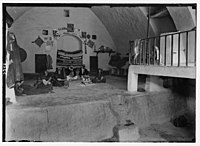 Wady Shaib Es-Salt, Amman, etc. A home in Es-Salt. Showing interior of a peasant home. LOC matpc.02736.jpg