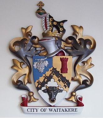 Waitakere City - The coat of arms of the City of Waitakere