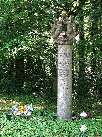 Munich Waldfriedhof - A grave monument in the older part of the cemetery, Alter Teil.
