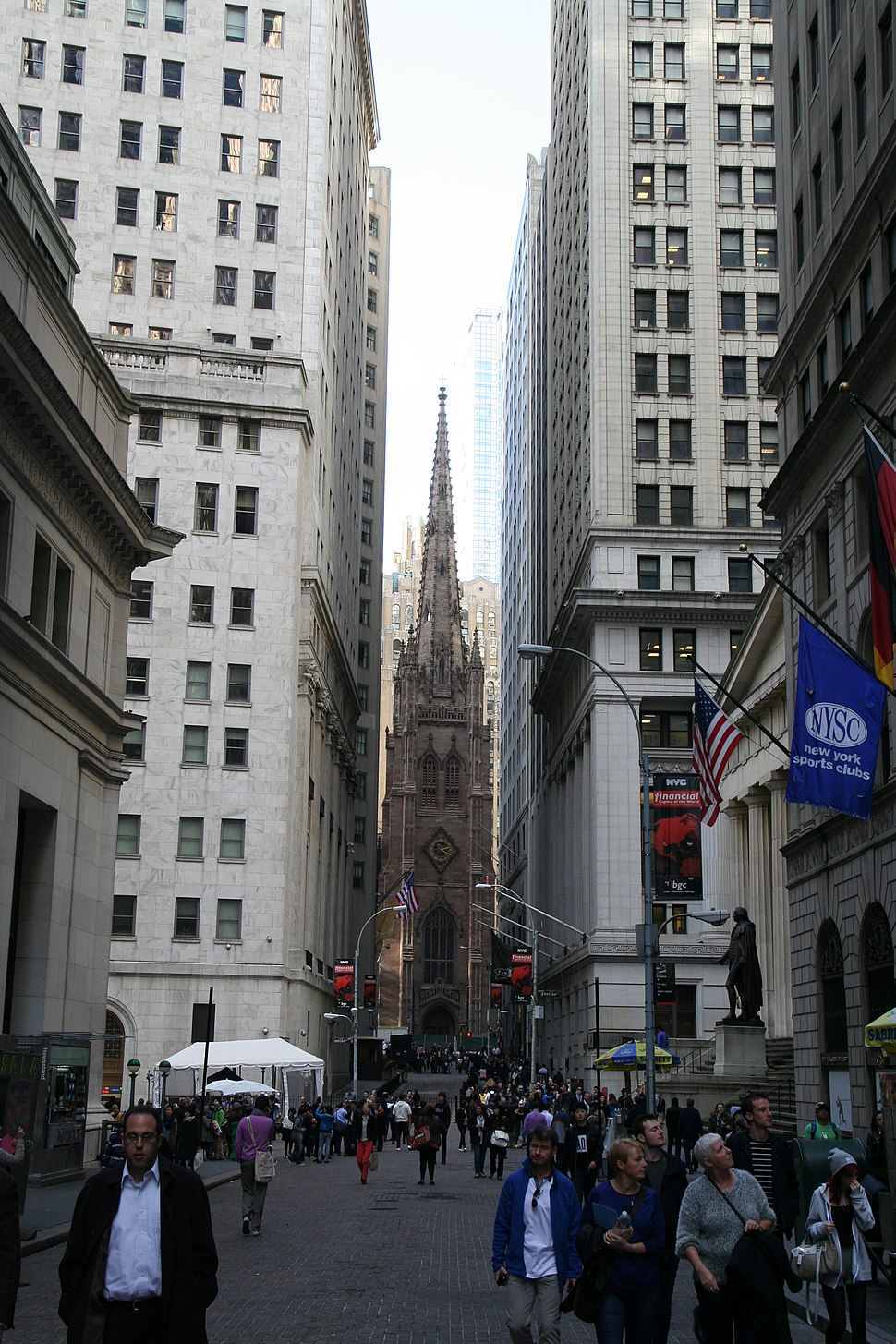 Wall Street and Trinity Church 2014