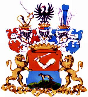 Wilhelm Lenk von Wolfsberg - Coat of arms of the Barons Lenk von Wolfsberg, 1829