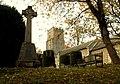 War Memorial and parish church of Thornham Magna - geograph.org.uk - 600797.jpg