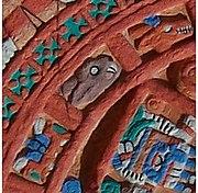 Détail d'un calendrier aztèque montrant un lapin.