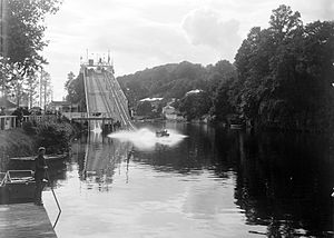 Cork International Exhibition (1902) - Water chute erected on the River Lee for the Exhibition