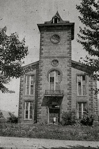 Webster, North Carolina - The old Webster Courthouse, built in 1888, abandoned in 1914, and demolished in 1935