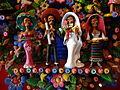 Wedding Scene in Tree of Life Sculpture - By Damaso Ayala Jimenez - Casa de Montejo - Merida - Mexico.jpg