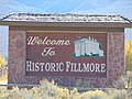 Welcome sign on North Main Street, Fillmore, Utah, Oct 16.jpg