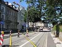 Werthmannstraße in Freiburg nach Sperrung des Platzes der Universität.jpg