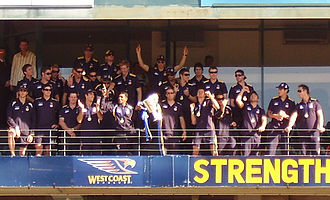 History of the West Coast Eagles - The West Coast Eagles 2006 Premiership team, at their welcome home at Subiaco Oval, the day after their win.
