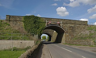 Westerleigh Junction - The South Wales Main Line and Cross Country Route passing over Westerleigh Road.