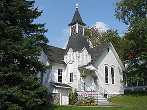Fine, New York - Western Adirondack Presbyterian Church in Wanakena