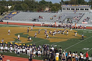 2017 Texas A&M–Commerce Lions football team - Image: Western New Mexico vs. Texas A&M–Commerce football 2017 05 (A&M–Commerce on offense)