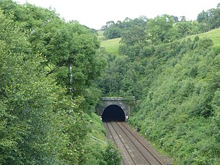 Cowburn Tunnel Railway tunnel on the Hope Valley Line in England