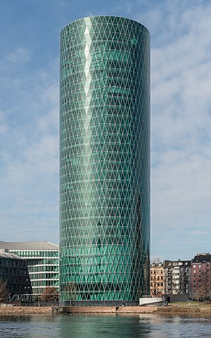 Westhafen Tower, Frankfurt, Southeast view 20170205 1.jpg