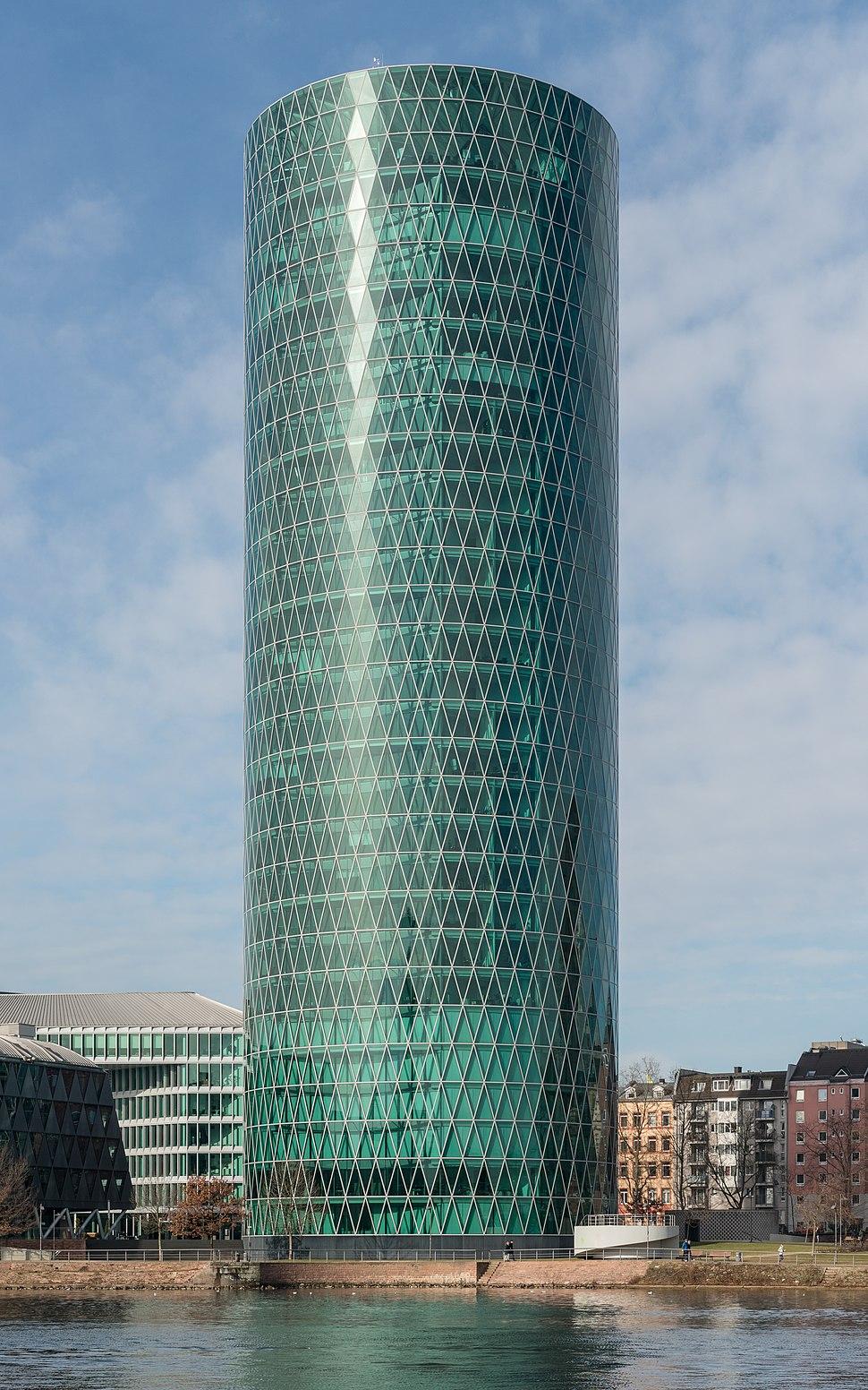 Westhafen Tower, Frankfurt, Southeast view 20170205 1