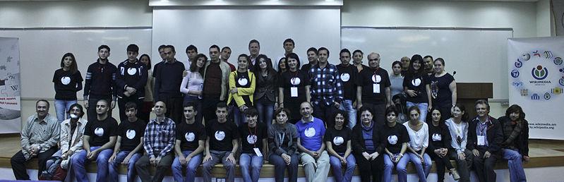 Учасники Вікіконференції в Єревані