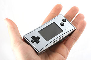 Game Boy Micro - The control pad has a similar design to the later Nintendo DS Lite system.