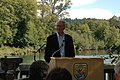 William Ruckelshaus speaking at a ceremony at the Nisqually National Wildlife Refuge.jpg