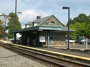 Willow Grove station - Willow Grove station viewed from the southwest