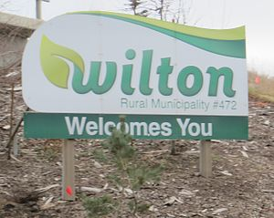 Rural Municipality of Wilton No. 472 - Boundary sign