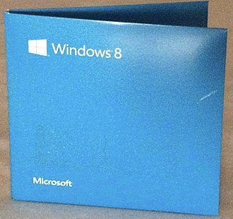 Windows 8 - Windows 8 Pro DVD case, containing a 32-bit and a 64-bit installation disc