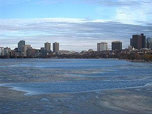 Winter view - Charles River, Boston, Massachus...