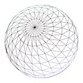 A wireframe sphere with roughtly 1600 sample points.